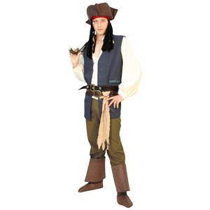 RUBIE'S(ルービーズ) DISNEY(ディズニー) コスプレ PIRATES of the CARIBEAN(パイレーツ・オブ・カリビアン)シリーズ Adult Jack Sparrow(ジャッ・スパロウ) Stdサイズ - 拡大画像