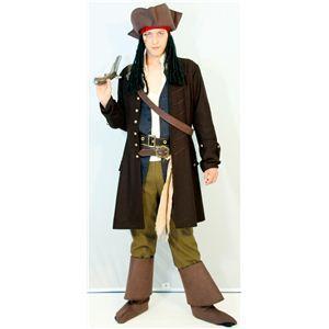 RUBIE'S(ルービーズ) DISNEY(ディズニー) コスプレ PIRATES of the CARIBEAN(パイレーツ・オブ・カリビアン)シリーズ Adult Deluxe Jack Sparrow(ジャッ・スパロウ) Stdサイズ - 拡大画像