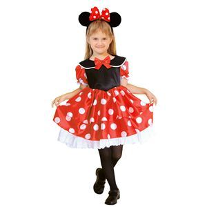RUBIE'S(ルービーズ) DISNEY(ディズニー) コスプレ Child Minnie(ミニー) Sサイズ - 拡大画像