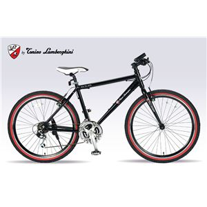 Lamborghini(ランボルギーニ) 自転車 クロスバイク 26・18SP TL-972 BLACK - 拡大画像