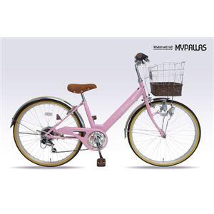 MYPALLAS(マイパラス) 子供用自転車24インチ・6SP(カゴ・ライト・カギ付) M-811 ピンク