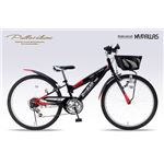 MYPALLAS(マイパラス) 子供用自転車 MTB24・6SP・CIデッキ付 M-824Z ブラックの画像