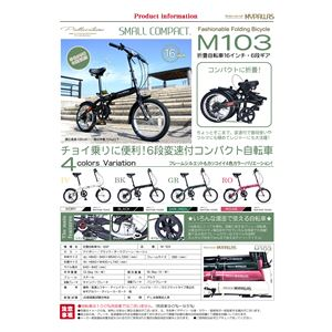 MYPALLAS(マイパラス) 6段変速付コンパクト自転車 折畳16・6SP M-103-BK ブラック