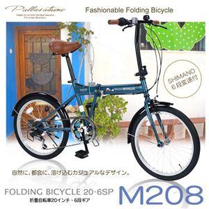MYPALLAS(マイパラス) 折畳自転車20・6SP M-208-OC オーシャン