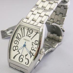 ジョルジュレッシュ 紳士 3針メタル腕時計 GR-14001-01 シルバー(黒) - 拡大画像