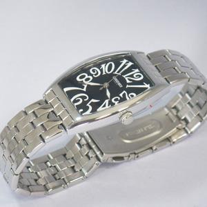 ジョルジュレッシュ 紳士 3針メタル腕時計 GR-14001-02 ブラック - 拡大画像