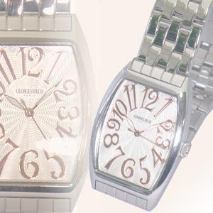 ジョルジュレッシュ 紳士 3針メタル腕時計 GR-14001-04 シルバー(PG) - 拡大画像