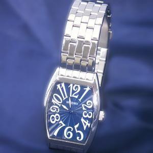 ジョルジュレッシュ 紳士 3針メタル腕時計 GR-14001-05 ダークブルー - 拡大画像