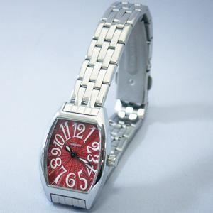 ジョルジュレッシュ 婦人 3針メタル腕時計 GR-14002-03 レッド - 拡大画像