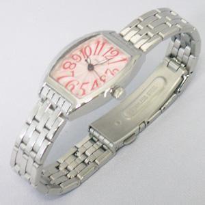 ジョルジュレッシュ 婦人 3針メタル腕時計 GR-14002-04 ピンク - 拡大画像