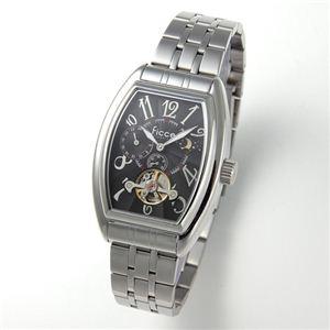Ficce(フィッチェ) 腕時計 サン&ムーン オートマ ブレスウォッチ FC-11044-02 ブラック