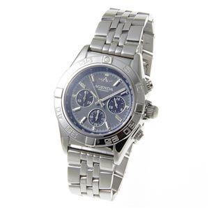 AGENDA(アジェンダ) 10気圧防水 紳士 クロノグラフ 腕時計 AG-8045-04 グレー - 拡大画像