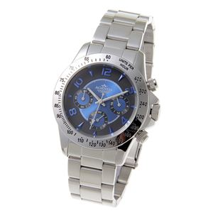 AGENDA(アジェンダ) 10気圧防水 紳士 クロノグラフ 腕時計 AG-8042-01 ブルー - 拡大画像