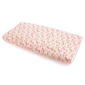 超軽量極薄敷布団ルナエアー ダブル 花柄ピンク - 拡大画像