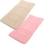 超軽量極薄敷布団 ルナエアーマスターピース(セパレートタイプ) モカベージュ×ピンク 日本製