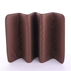 6つ折りコンパクトルナエアー(超軽量極薄敷布団) ブラウン 日本製 - 拡大画像