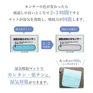 日本製 湿気吸収マット(除湿マット) クイーン