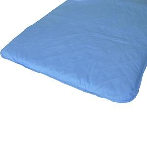 快適な温度帯に働きかける温度調整素材アウトラスト使用 涼感敷パッドシーツ クイーン ブルー 綿100% 日本製 - 拡大画像