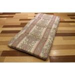 コンパクト収納 4つに折れる軽量敷布団 シングルピンク 綿100% 日本製