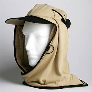 日焼け防止・UVカットする帽子、紫外線保護指数UPF50+【フリルネックU.T.E. ポリエステルマイクロメッシュ】(サンド) - 拡大画像
