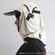 日焼け防止・UVカットする帽子、紫外線保護指数UPF50+【フリルネックU.T.E. ポリエステルマイクロメッシュ】(ライトグレー/ブラック) - 縮小画像3