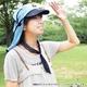 日焼け防止・UVカットする帽子、紫外線保護指数UPF50+【フリルネックU.T.E. ポリエステルマイクロメッシュ】(ライトグレー/ブラック) - 縮小画像6