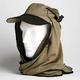 日焼け防止・UVカットする帽子、紫外線保護指数UPF50+【フリルネックU.T.E. ポリエステルマイクロメッシュ】(オリーブ) - 縮小画像1