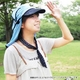 日焼け防止・UVカットする帽子、紫外線保護指数UPF50+【フリルネックU.T.E. ポリエステルマイクロメッシュ】(オリーブ) - 縮小画像6