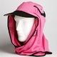 日焼け防止・UVカットする帽子、紫外線保護指数UPF50+【フリルネックU.T.E. ポリエステルマイクロメッシュ】(ピンク/ブラック)