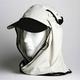 日焼け防止・UVカットする帽子、紫外線保護指数UPF50+【フリルネックU.T.E. ポリエステルマイクロメッシュ】(ボーン) - 縮小画像1