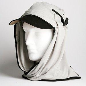 日焼け防止・UVカットする帽子、紫外線保護指数UPF50+【UPF50+ポリエステルマイクロメッシュ新モデル ライトグレー】 - 拡大画像