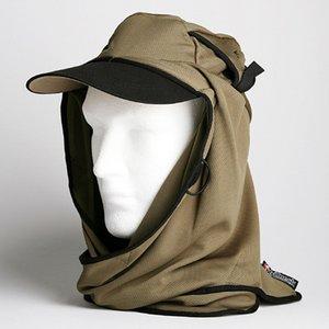 日焼け防止・UVカットする帽子、紫外線保護指数UPF50+【UPF50+ポリエステルマイクロメッシュ新モデル オリーブ】 - 拡大画像