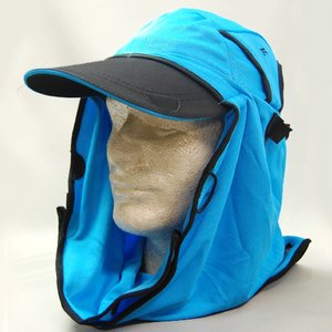 日焼け防止・UVカットする帽子、紫外線保護指数UPF50+【UPF50+ポリエステルマイクロメッシュ新モデル ターコイズ】 - 拡大画像