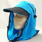 日焼け防止・UVカットする帽子、紫外線保護指数UPF50+【UPF50+ポリエステルマイクロメッシュ新モデル ターコイズ】