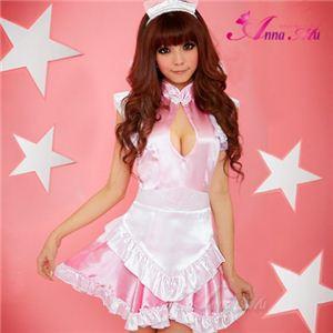 新作 ピンクの可愛いメイドさん3点セット/コスプレ/コスチューム/z598-1