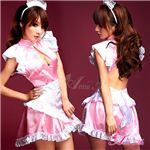 新作 ピンクの可愛いメイドさん3点セット/コスプレ/コスチューム/z598