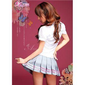 新作 胸元セクシー女子高生制服セット/コスプレ/コスチューム/z597 の画像