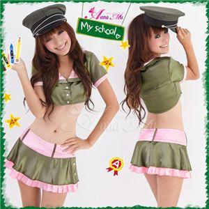 セクシーミニスカ制服コスチューム3点セット/コスプレ/z255