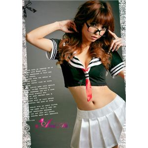 コスプレ 胸元セクシーミニスカセーラー服3点セット z449-11
