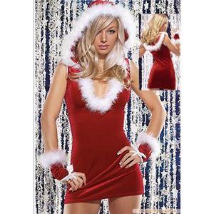 コスプレ 2011年新作 クリスマス☆サンタクロースミニスカワンピ2点セット ildc341-11 - 拡大画像