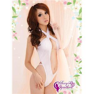 コスプレ 2011年新作 胸元セクシーホワイトテディ y075 - 拡大画像