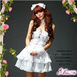 マサキ コスプレ ふんわりスカートのゴスロリ調ホワイトドレス z672