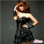 マサキ コスプレ ふんわりスカートのゴスロリ調ブラックドレス z671