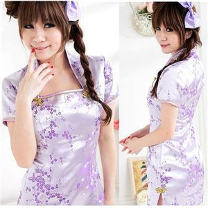 コスプレ 紫の可愛いチャイナドレス C383 - 拡大画像