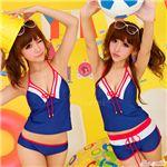 水着☆ホルターネック タンキニ/ホットパンツ付き/bkn044
