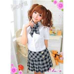 黒ブレザーのキュート女子高生制服コスプレ/z898 の画像