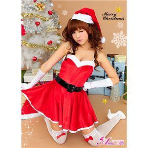 【クリスマスコスプレ】ミニスカサンタワンピコスチューム6点セット C335