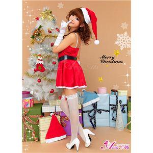【クリスマスコスプレ】ミニスカサンタワンピコスチューム6点セット C335の写真3