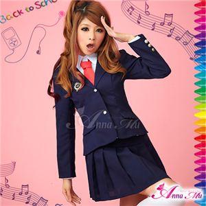 コスプレ 2012年新作 紺ブレザーのキュート女子高生制服 コスチューム/z906/衣装 - 拡大画像
