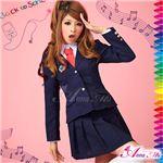 コスプレ 2012年新作 紺ブレザーのキュート女子高生制服 コスチューム/z906/衣装
